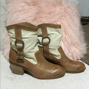 LUCKY brand booties Western boots mid calf